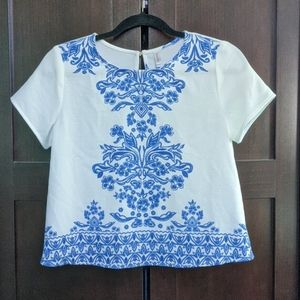 Embroidery Print Shirt